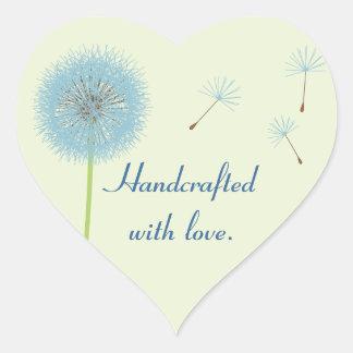 Handcrafted con el pegatina del amor