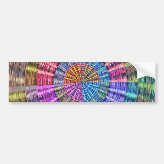 Handcrafted Native Folkart Basket Weave Pattern Bumper Sticker