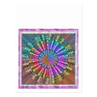 Handcrafted Native Folkart Basket Weave Pattern Postcard