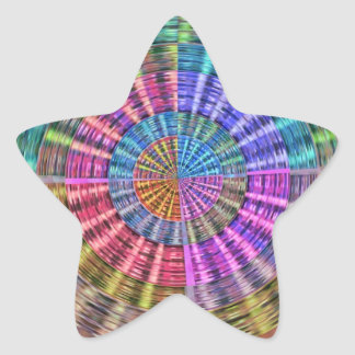 Handcrafted Native Folkart Basket Weave Pattern Star Sticker