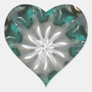 handcrafted stone arrangements heart sticker