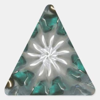 handcrafted stone arrangements triangle sticker