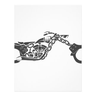 handcuff chopper motorcycle letterhead