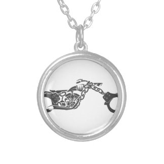 handcuff chopper motorcycle necklaces