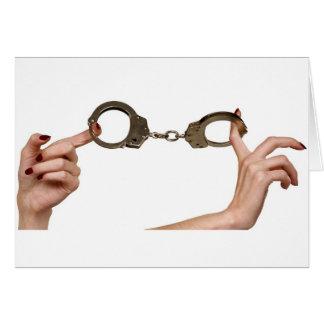 Handcuffs Card