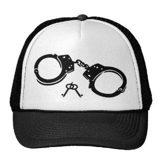 Handcuffs keys mesh hat