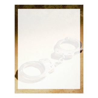 Handcuffs Personalized Letterhead