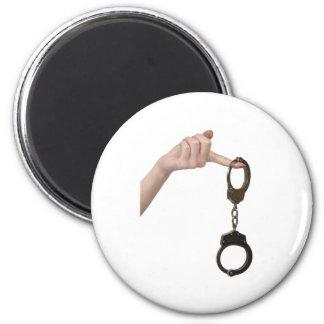 handcuffs fridge magnet