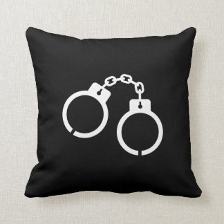 Handcuffs Pictogram Throw Pillow