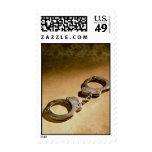 Handcuffs Postage Stamp