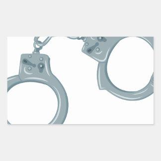 Handcuffs Rectangular Sticker