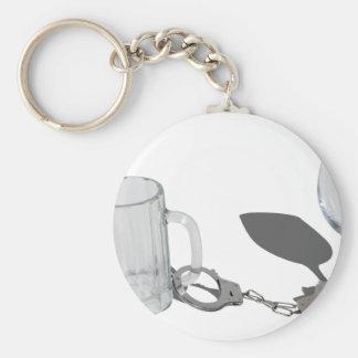 HandcuffsBeerSteinWineGlass112611 Basic Round Button Keychain