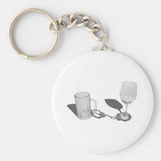 HandcuffsBeerSteinWineGlass112611 Keychain