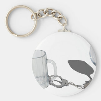 HandcuffsBeerSteinWineGlass112611 Llavero Redondo Tipo Pin