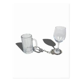 HandcuffsBeerSteinWineGlass112611 Postcard