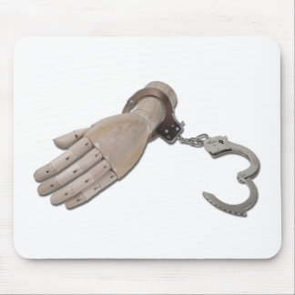 HandcuffsWoodenHand052711 Mouse Pad