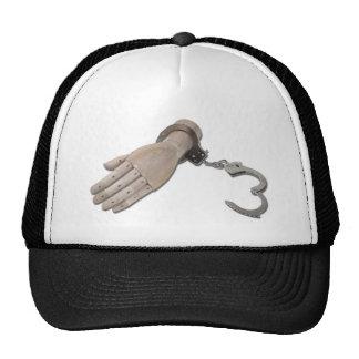 HandcuffsWoodenHand052711 Trucker Hat