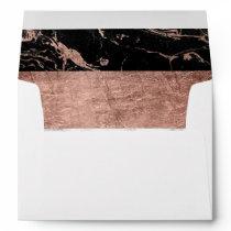 Handdrawn color block rose gold marble stripes envelope