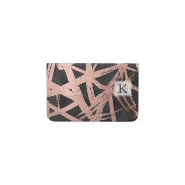 girly_trend Handdrawn faux rose gold brushstrokes triangles business card holder