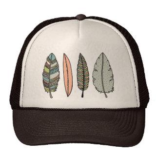 handdrawn feather hat