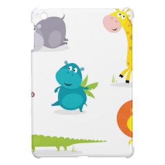 Handdrawn illustrated Africa animals Collection iPad Mini Case