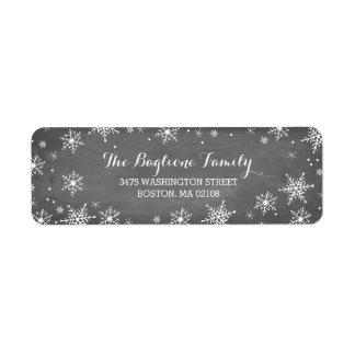 Handdrawn Snowflakes Collection Label