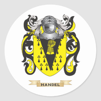 Handel Coat of Arms (Family Crest) Round Stickers