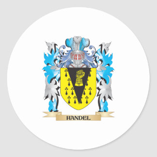 Handel Coat of Arms - Family Crest Stickers