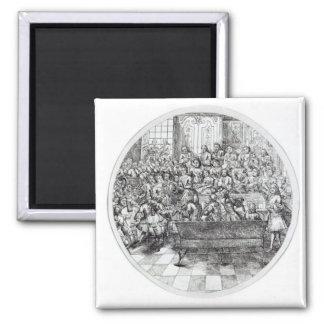 Handel conducting an oratorio, c.1740 2 inch square magnet