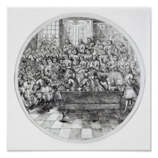 Handel conducting an oratorio, c.1740 poster