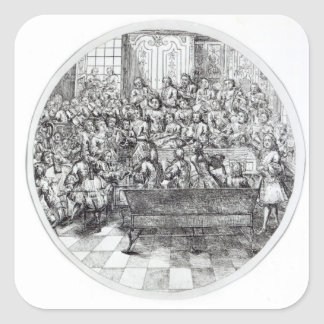 Handel conducting an oratorio, c.1740 square sticker