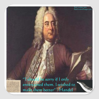 Handel Making People Better Quote Gifts & Cards Square Sticker