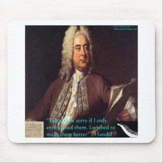 Handel que hace gente mejores regalos y tarjetas d tapete de ratones