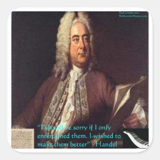 Handel que hace gente mejores regalos y tarjetas pegatina cuadrada