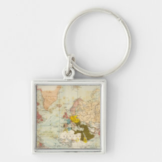 Handels Colonial Atlas Map Keychain