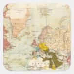 Handels Colonial Atlas Map Square Sticker