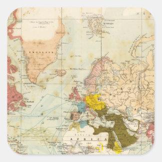 Handels Colonial Atlas Map Sticker