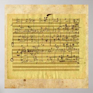 """Handel's """"Messiah"""" in Beethoven's hand Poster"""