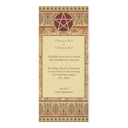 Handfasting invitation wording handfasting 4x9 25 paper invitation