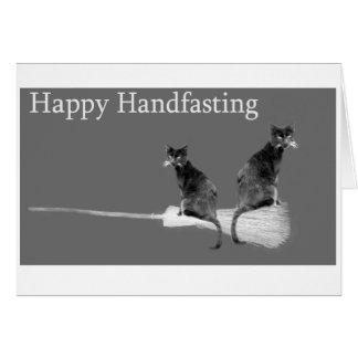 ¡Handfasting feliz! Invitación de boda pagana de Tarjeta De Felicitación