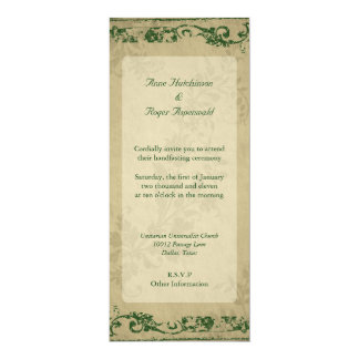 Handfasting Invitación 10,1 X 23,5 Cm