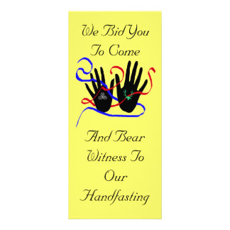 Handfasting Invitations Rack Card Template