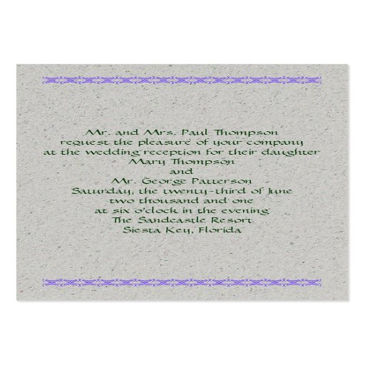 Business Card Invitations