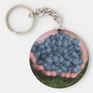 Handful of Fresh Blueberries Keychains