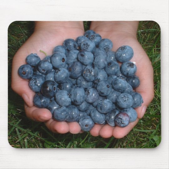 Handful of Fresh Blueberries Mouse Pad