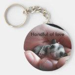 Handful of love basic round button keychain
