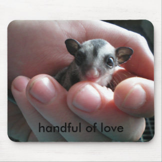 handful of love mouse pad