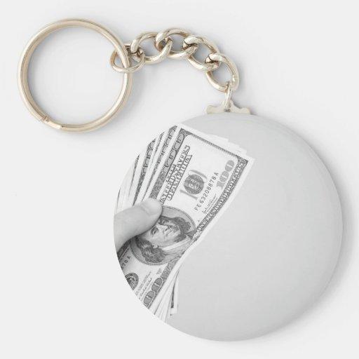 Handful of Money Basic Round Button Keychain