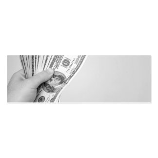 Handful of Money Double-Sided Mini Business Cards (Pack Of 20)