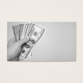 Handful of Money Business Card